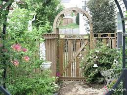 wood garden gate with arch arbor ideas fence design creative
