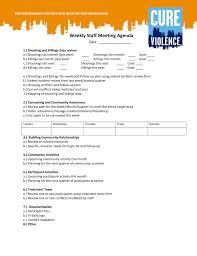 Meeting Agenda Template Hr Weekly Staff Main Image Download Book
