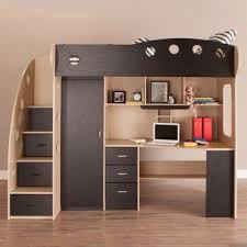 NIKA Loft Bed (Maple + Black) | Bunk beds small room, Bunk bed designs,  Small kids room