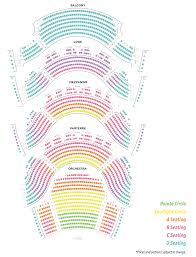 Seating Maps For Ellie Caulkins Opera House And Newman Center