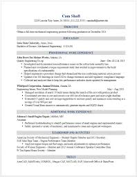Industrial Engineer Resume New Section Mesmerizing Example Resumes Engineering Career Services Iowa State University