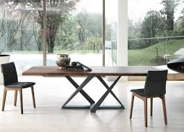 bontempi millennium wood dining table detailed images