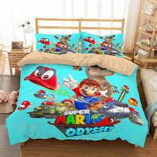 super mario odyssey bedding set
