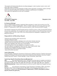 Recruiting Specialist Resume Sample