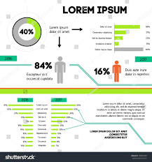 Graphic Design Stats Infographic Concept Scheme Statistics Graphic Design Stock