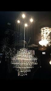 saint mossi crystal rain drop chandelier modern contemporary ceiling pendant light 4 gu10 bulbs