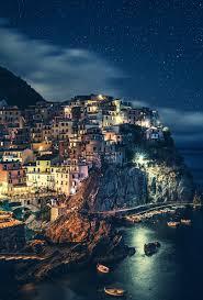 Italy At Night Village Alley Wallpaper