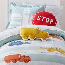 boys transportation bedding crate and