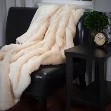 Lavish Home Beige Luxury Long Haired Faux Fur Throw6174BE  The  Depot Fur Chair Throw29