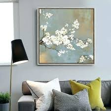 modern art for bedroom white cherry tree flowers painting canvas prints home decor living room paintings nice paintings for bedroom