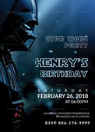 star wars template star wars birthday party invitation template