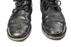 cleaning salt stains in work boots