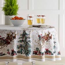 twas the night before tablecloth round