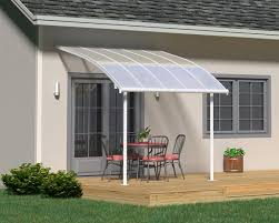 patio covers. Palram Joya™ Patio Cover 9.7x10 White Frame Clear Panels Patio Covers