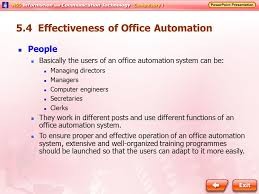 Office automated system Flowchart 54 Effectiveness Of Office Automation At Tech 51 Basics Of Office Automation Ppt Video Online Download