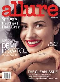 demi lovato allure magazine february 2016 allure feb 2016