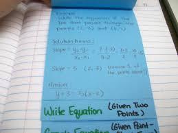 math love point slope form foldable standard linear equation math love point slope form foldable standard