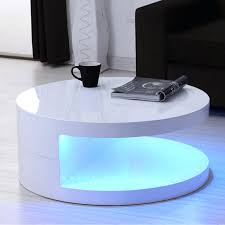 small white coffee table led round top white high gloss coffee table french cau white painted