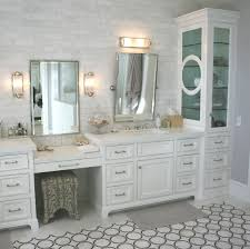 ceiling height bathroom backsplash