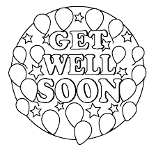 Get Well Soon Coloring Pages With Balloons And Stars Coloringstar