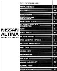 similiar 1998 nissan altima wiring diagram keywords 1998 nissan altima repair shop manual original