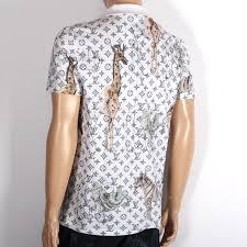 louis vuitton shirt. louis vuitton louis vuitton-limited short-sleeved polo shirt 1a2q5 white monogram zebra elephant vuitton o