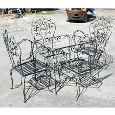 white cast iron patio furniture. Image Of Black Vintage Wrought Iron Patio Furniture White Table And Chairs Cast Steel I
