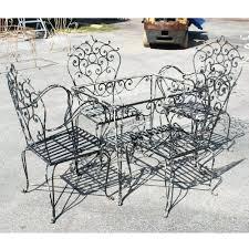 Patio Ideas Image Black Vintage Wrought Iron Patio Furniture