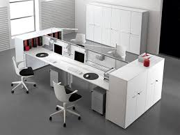 white modern office chair white rolling. White Work Surfaces Flanked By Opened And Closed Storage, Rolling Files A Divider Panel Make This Room Both Functional Visually Appealing. Modern Office Chair