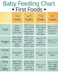 Baby Food Feeding Chart Baby Feeding Chart For First Baby Foods Helpful Chart For