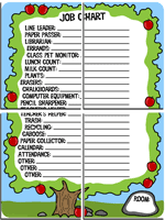 Classroom Job Chart Printable Free Charts And Banners For Bulletin Boards Edhelper Com