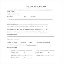 Employment Job Application Form Filling In Application Forms For Jobs Simple Job Application Form