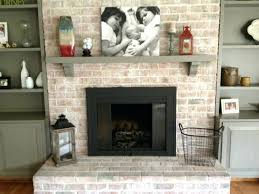 resurface brick fireplace with concrete furniture ideas soft colored black for indoor use refinish and refacing to save money col