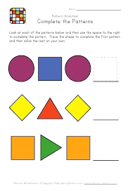 Pattern Activities For Preschoolers Classy Abc Pattern Worksheets Nordtri