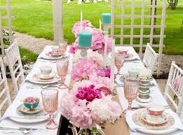 Full tea party table setting