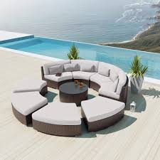 outdoor sectional metal. White Curved Outdoor Sofa Small Sofas Modern Metal Sectional Cover B