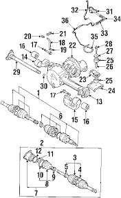 parts com® chevrolet tracker carrier front axles oem parts 2001 chevrolet tracker zr2 l4 2 0 liter gas carrier front axles