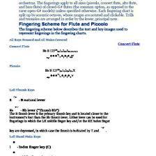 Flute And Piccolo Fingering Charts D49om6qgq049