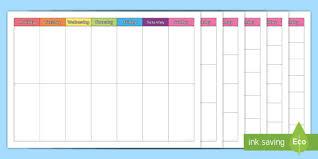 Weekly Timetable Planner Free Full Week Timetables Week Timetable Time Table