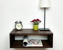 Floating Nightstand / Nightstand With Drawer / Nightstand Regarding Wall Mounted  Nightstand