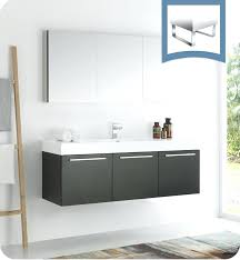 wall mount bathroom vanity vista black wall hung modern bathroom vanity with faucet medicine cabinet and