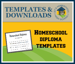 Free Homeschool Diploma Template Free Homeschool Highschool Diploma Templates Homeschool