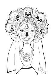 Small Picture Day of the Dead Coloring Pages by Heather Fonseca coloring pages