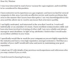 Work Experience Cover Letter Gas Engineer Cover Letter Example Learnist Org