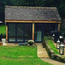 image is loading two bay green oak framed garden outbuilding building