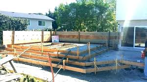 raise deck raised patio deck raised concrete patio deck how to build a over raise stamp
