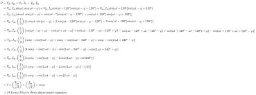 three phase power equation