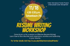 Resume Writing Workshop Techtrontechnologies Com