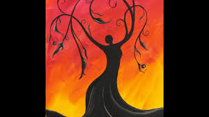whimsical tree dess step by step acrylic painting on canvas for beginners you