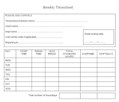 Weekly Timecard Template – Spitznas.info